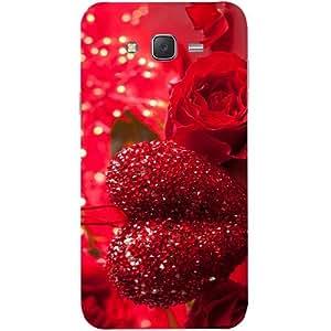 Casotec Valentine Day Design Hard Back Case Cover for Samsung Galaxy J7