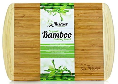 N°1 Tagliere in Bambù Biologico EXTRA LARGE con Scanalature - Il Miglior Tagliere da Cucina