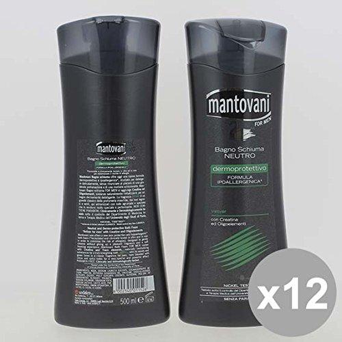 Set 12 MANTOVANI Bagno 500 Noir Vetyver Bagnoschiuma e saponi per il corpo