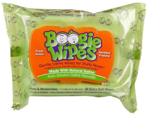 Boogie Wipes Gentle Saline Wipes - Fresh Scent - 30 ct - 1