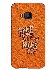 MobileGabbar HTC One M9 Back Cover Plastic Hard Case