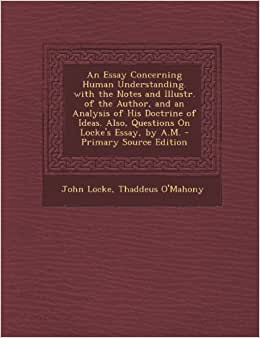 an essay concerning human understanding notes