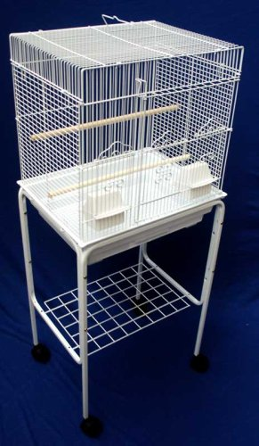 Brand New Bird Cage Cages 18x14x44 With Stand 5824Wht/S