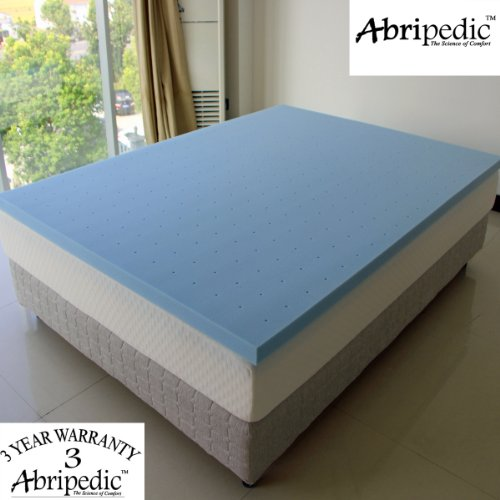 "Abripedic 2"" Thick Memory Foam King Mattress Topper 3-Year Warranty By Royal Hotel"