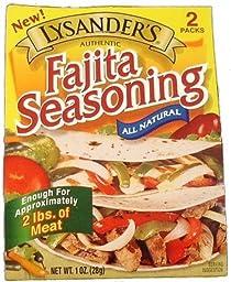 Lysander\'s Fajita Seasoning - 6 (SIX) Double Packets