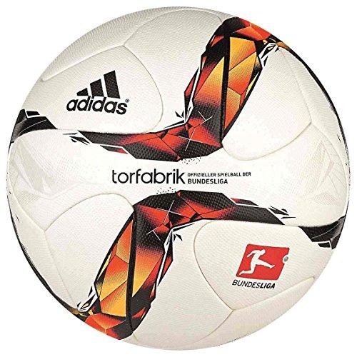 adidas Torfabrik Offizieller Spielball der Bundesliga, White/Solar Red/Black/Solar Orange, 5, S90211