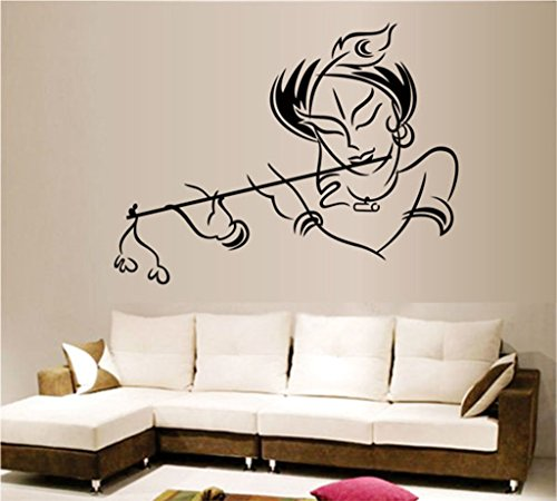 Decals Design 'Krishna' Wall Sticker (PVC Vinyl, 50 cm x 70 cm)