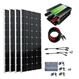 ECO-WORTHY 600W 太陽光発電単結晶ソーラーパネル 45Aチャージコントローラー 付属