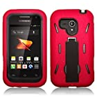 Red Samsung Galaxy Rush Rugged Case Full Protection - Otterbox Style