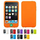 ORANGE Apple iPod Touch 3 3G 3rd Generation 16GB 32GB 64GB CANDY Silicone Case Skin Cover