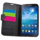 Samrick Executive �tui-portefeuille en cuir avec pour Samsung i9200 Galaxy Mega 6.3 et i9205 Galaxy Mega 6.3 avec porte-carte, support de maintien, protecteur d'�cran et lingette microfibre Noir