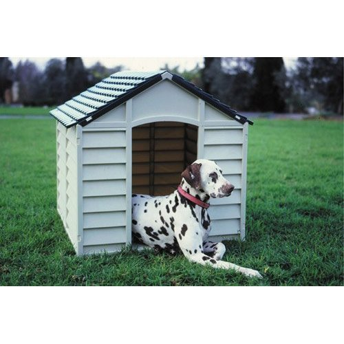 Rugged Large Dog House: Large Dog Cats Pets Kennel Strong Durable Plastic/ Winter