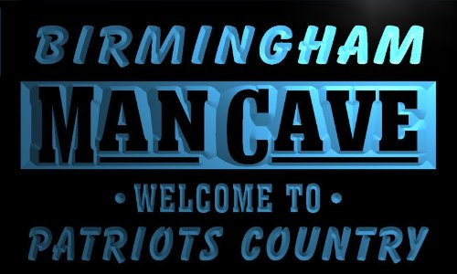 Qf2147-B Birmingham Man Cave Patriots Country Vintage Pub Bar Neon Beer Sign