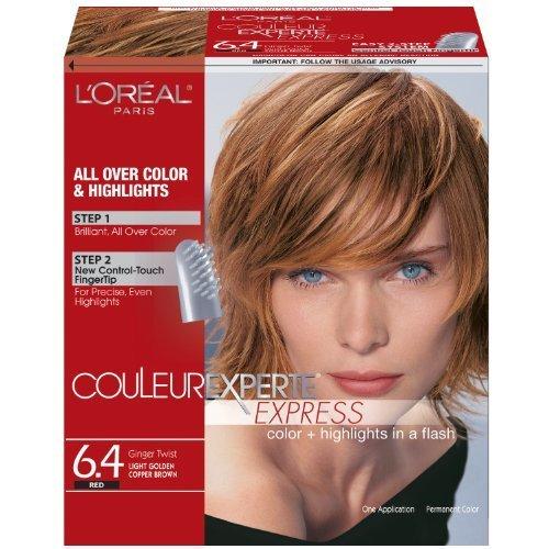 LOreal Paris Couleur Experte Express Light Golden Copper Brown/Ginger Twist 6.4 (Pack of 3)