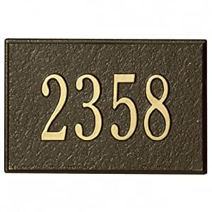 Amazon.com : Whitehall Mailbox Number Plaque Only - Bronze : Address