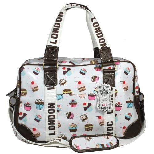 Lydc Women's Cupcake Design Weekend Bag Off White SS01034 Large