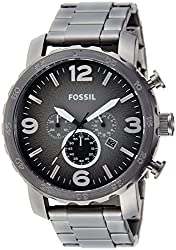 Fossil Nate Chronograph Analog Grey Dial Mens Watch - JR1437