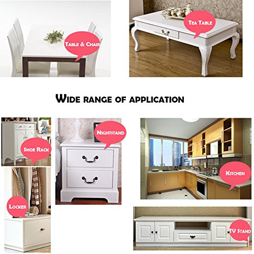 Leewin 12 Pack Transparent Table Corner Guard Baby Child Kid Safety Bumpers Protectors on Edge Furniture Desk