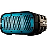 Incipio Technologies Braven BRV-1 Portable Wireless Speaker Gray with White Relief and Turquoise Blue Grill (BRV1GWC)