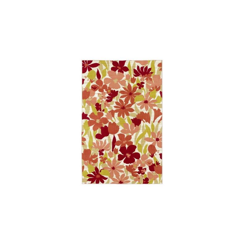 Shaw Wallflowers/Coral Printed Area Rug                                  76 x 910