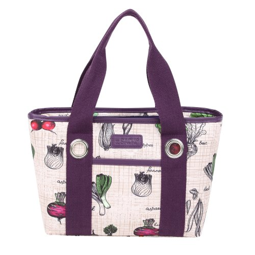 Sachi Fun Print Insulated Lunch Tote, Style 11-217, Veggies - 1