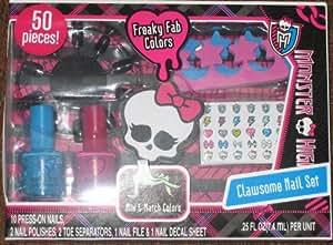 Monster High Clawsome 50 Piece Press On Nail Polish Set