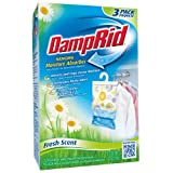 DampRid FG83K Hanging Moisture Absorber Fresh Scent, 1 Box of 3 count