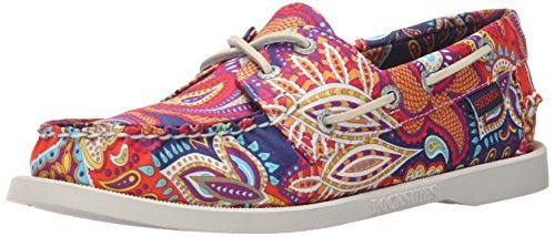 Sebago Women's Docksides Boat Shoe,Persia Liberty Art Fabric,US 9.5 M Sebago Womens Wave