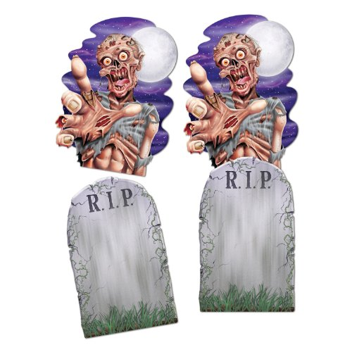 Beistle 2-Pack Jumbo Tombstone and Zombie Cutouts, 24-1/2-Inch
