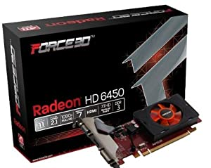 Force3D AMD ATI radeon HD 6450 2Gb DDR3 HDMI DVI VGA video graphics card PCI express pcie x16 HD 1080P windows 7/vista/XP