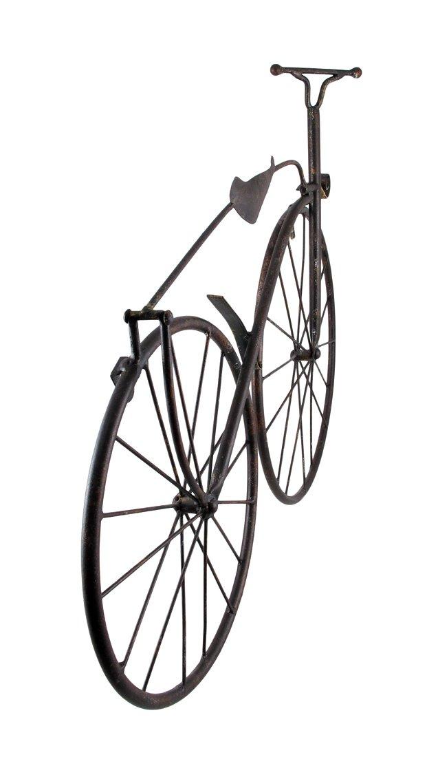 Cool Metal Vintage High Wheel Bicycle Wall Hanging