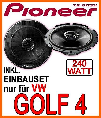 VW-Golf-4-Lautsprecher-Pioneer-TS-G1732i-16cm-Einbauset