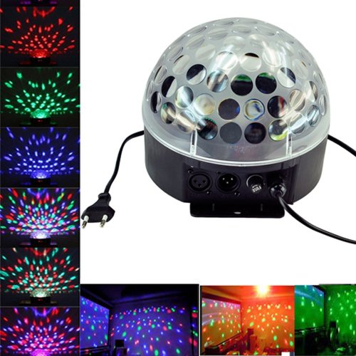 Eastvita® Dmx512 6 Led Disco Dj Stage Lighting Led Rgb Crystal Magic Ball Effect Light Dmx Light Ktv Party