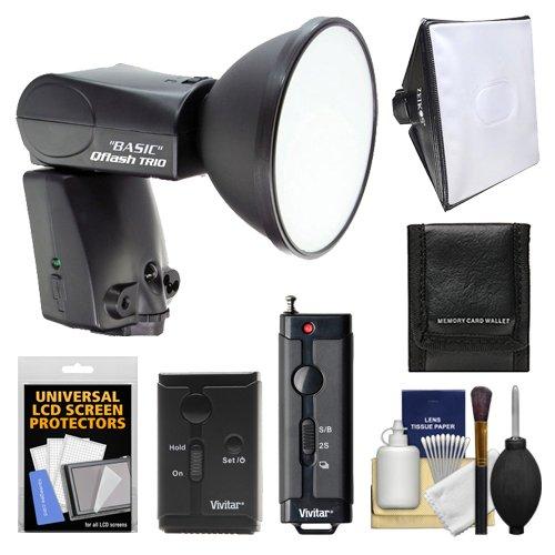 Quantum Qflash Trio Basic Model Qf8Cb Flash (For Canon) With Softbox + Wireless Remote + Accessory Kit For Digital Slr Cameras