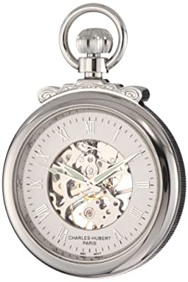 Charles-Hubert Pocket Watch 3903-W Chrome Plated Open Face