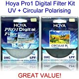Hoya 52mm Pro1 Digital Circular Polarising CPL & UV Multi-Coated Lens Filter Kit