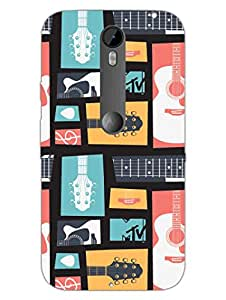 Moto X Style Back Cover - MTV Gone Case - Keep Calm And Play Guitar - Colorfull - Designer Printed Hard Shell Case