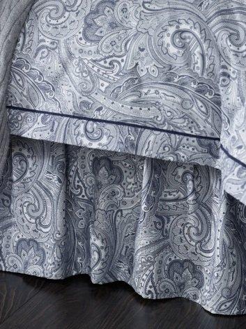 Lauren By Ralph Lauren Lauren Suite Navy & White Paisley California King Bedskirt front-1063468