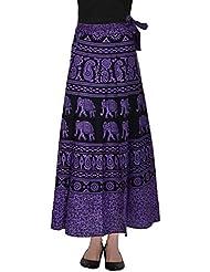 SFL Women's Cotton Wrap Skirt (Multi-Coloured) - B01C772B9Q