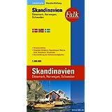 """Falk L�nderkarte Skandinavien / D�nemark / Norwegen / Schweden 1:800 000von """"Falk"""""""