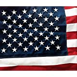 U.S. American Flag 3'x5' Nylon with Embroidered Stars and Sturdy Brass Grommets [ 5'x8', 4'x6' and 2'x3' also Available] American Company who Donates 30% of Proceeds to Fallen Officer Charity Fund. 100% Money Back Guarantee.