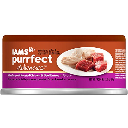 Iams Purrfect Delicacies Select Cuts With Roasted Chicken & Beef Entrée