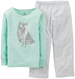 Carter\'s Baby Girls\' 2 Piece Pant PJ Set (Baby) - Owl - 24 Months
