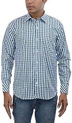 Major Sab Men's Casual Shirt MS7063L3_Green_L