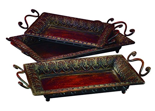 Deco 79 Metal Tray to Serve in Style, Set of 3