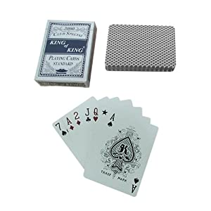 Trademark Poker 1 Deck-Club Special King Of King Playing Cards (Blue)