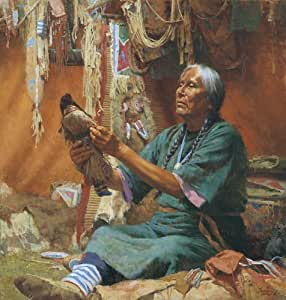 """New Doll for My Granddaughter"" - Howard Terpning - Western Art (Limited Edition Canvas)"