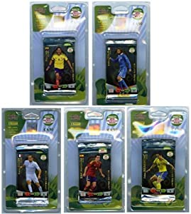 2014 Panini Adrenalyn FIFA Road to the World Cup Brazil Five(5) Piece Factory Sealed Blister Set