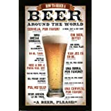 Order Beer Around The World Humor Poster Print, 24x36 Poster Print, 24x36 Poster Print, 24x36 ~ Poster Revolution