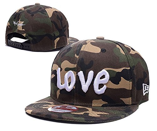 Love Team Classic Stretch Fit Cap Merchandising Camo Adjustable Cap